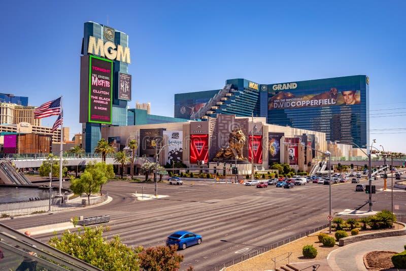 Las Vegas, Nevada, VS - MGM Grand Casino op de strip stock afbeeldingen