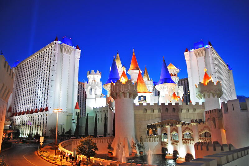 Download Las Vegas at night editorial image. Image of illuminated - 12186200