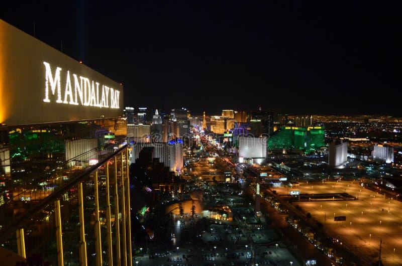 Download Las Vegas By Night - Bird Eye View Editorial Image - Image: 86157300