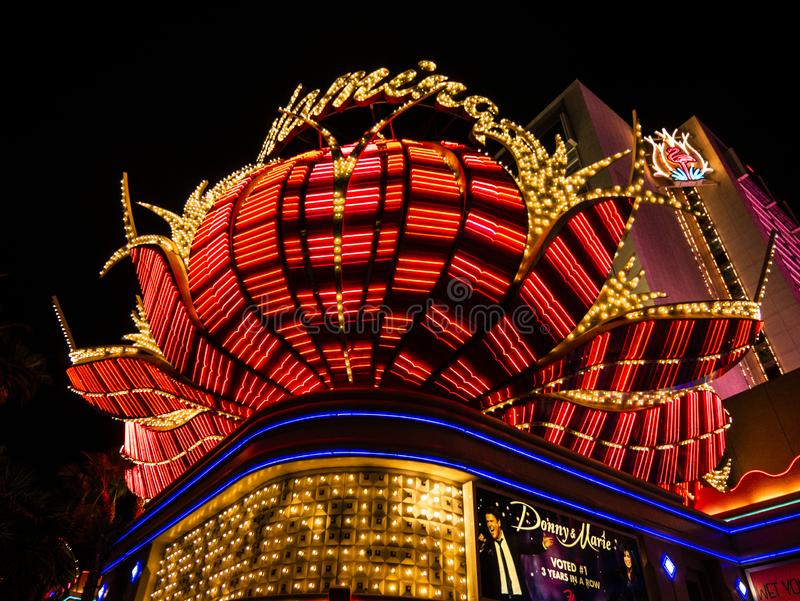 Las Vegas Night casino glitter. Vacation time. Fun pleasures stock photos