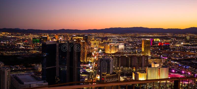 Las Vegas casino... by night to wins stock photos