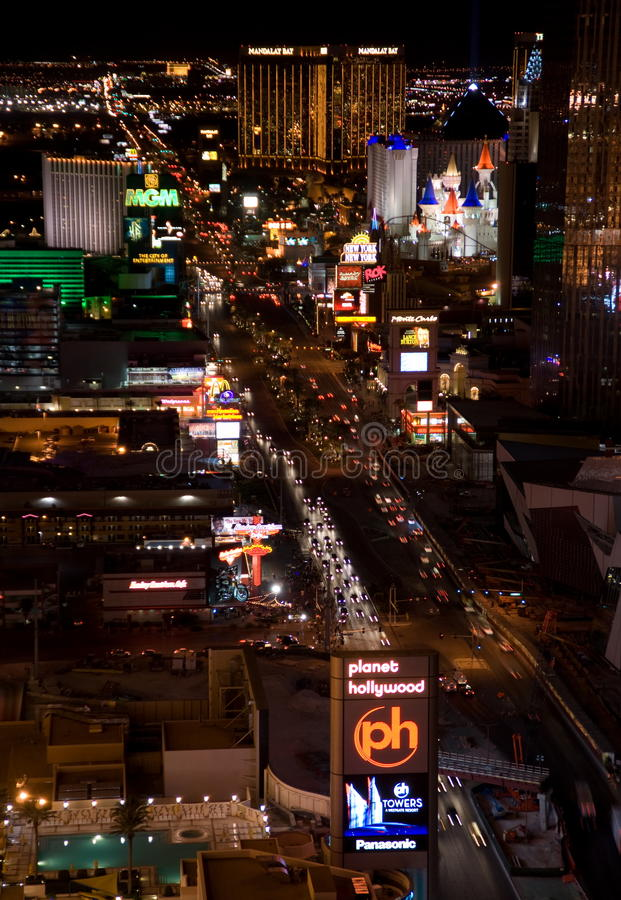 Free Las Vegas Night Panorama Stock Photos - 9762673