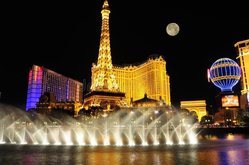 las Vegas nocy pas fotografia stock