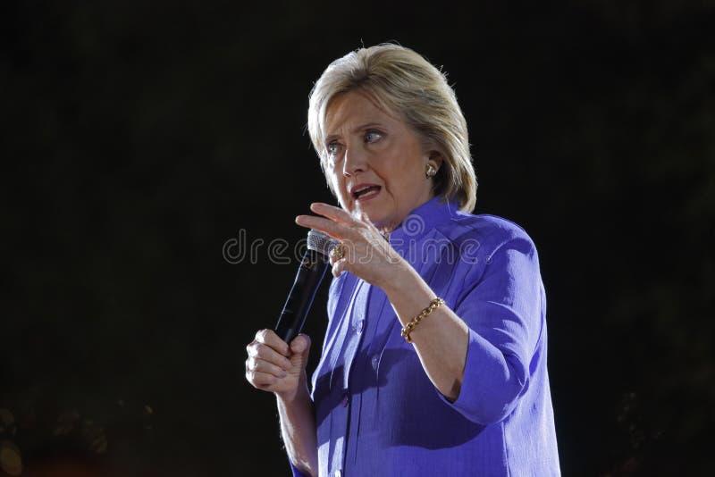 LAS VEGAS, NV - 14 OKTOBER, 2015: Hillary Clinton, vroeger U S Staatssecretaris en de Democratische presidentiële kandidaat van 2 stock afbeelding