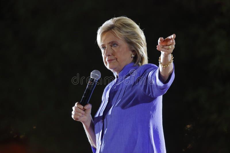 LAS VEGAS, NV - 14 OKTOBER, 2015: Hillary Clinton, vroeger U S Staatssecretaris en de Democratische presidentiële kandidaat van 2 royalty-vrije stock fotografie
