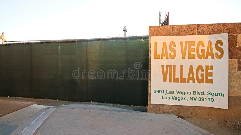 Las Vegas village. LAS VEGAS, NV - SEP 15,2018: Now in Las Vegas village one year after the Las Vegas shooting incident. Here Route 91 Harvest Country Music royalty free stock photography