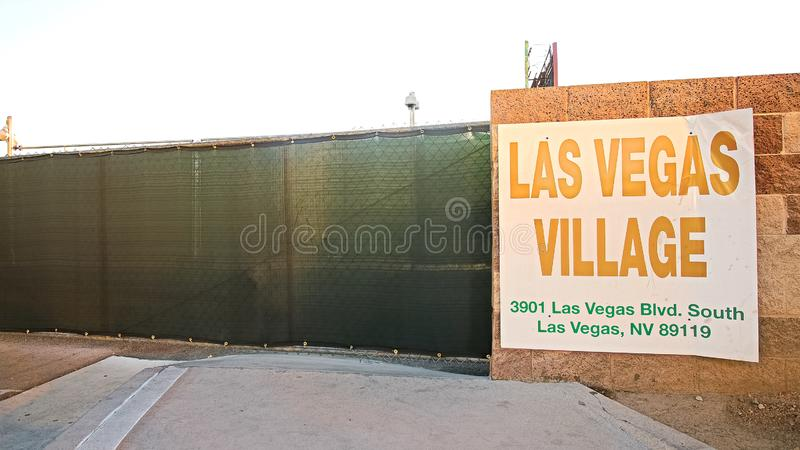 Las Vegas village. LAS VEGAS, NV - SEP 15,2018: Now in Las Vegas village one year after the Las Vegas shooting incident. Here Route 91 Harvest Country Music stock image