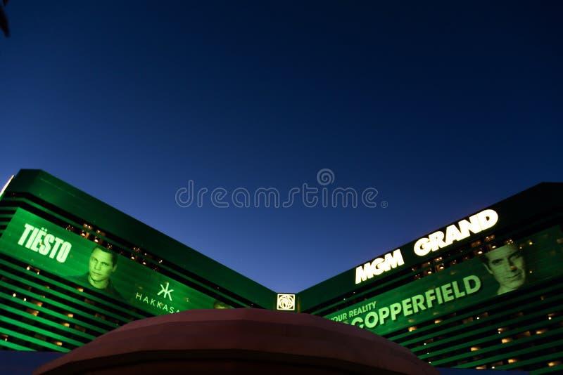 Las Vegas NV, USA 09032018: MGM-ressort arkivfoton