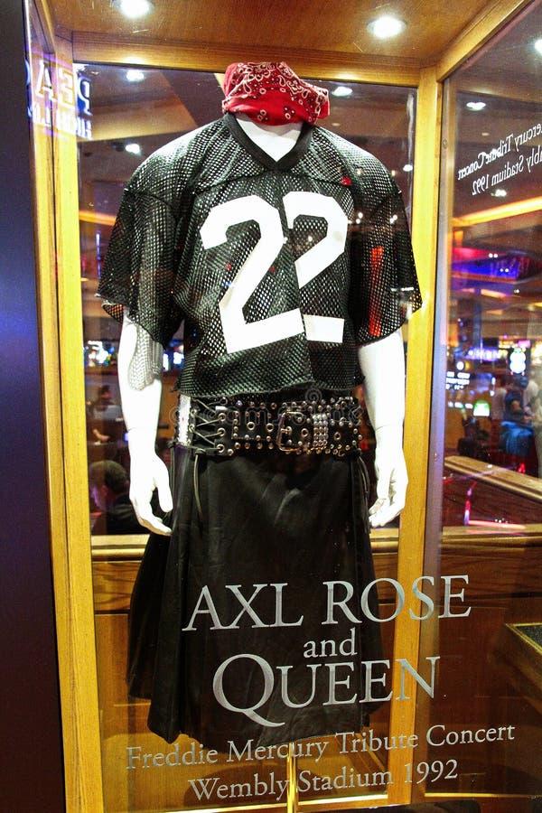 Music Memories Behind The Glass at Hard Rock Hotel Las Vegas. royalty free stock images
