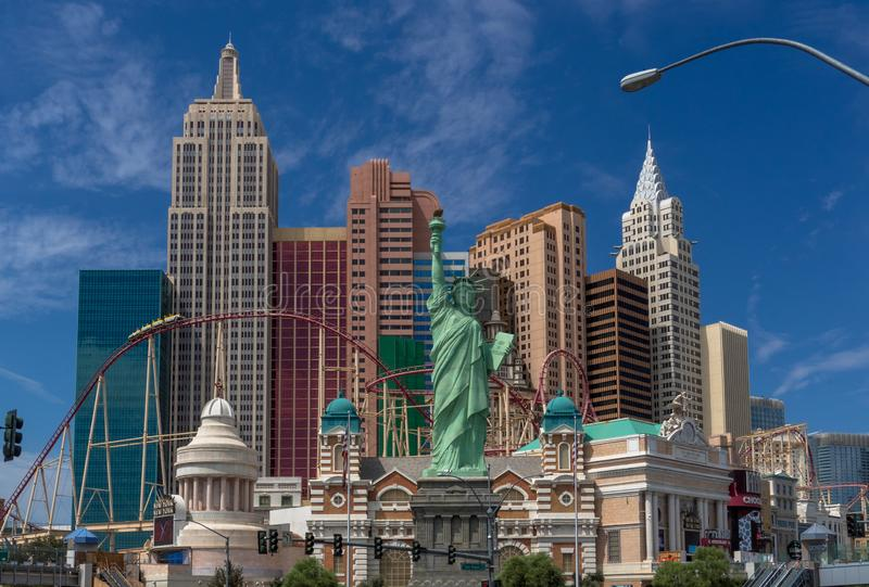 Hotel New York New York in Las Vegas Strip stock image