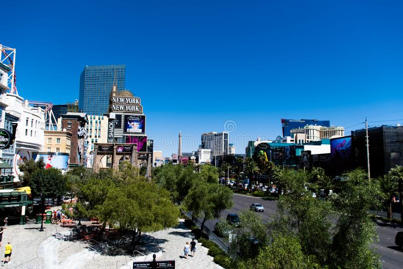 Las Vegas, NV, USA 09032018: stunning view of the strip in the morning royalty free stock photo