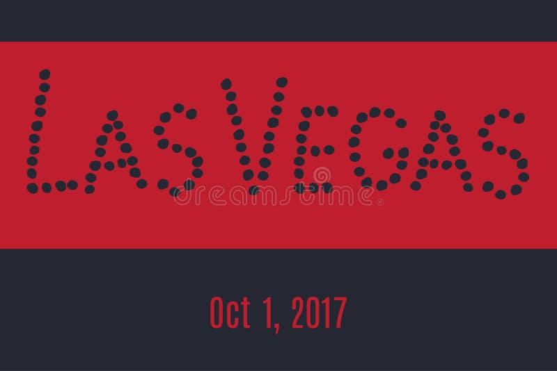 Las Vegas, 1 Oktober, 2017 royalty-vrije illustratie
