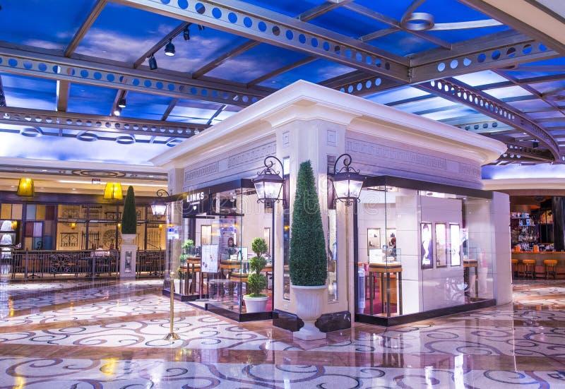 Las Vegas Palazzo inre royaltyfri fotografi