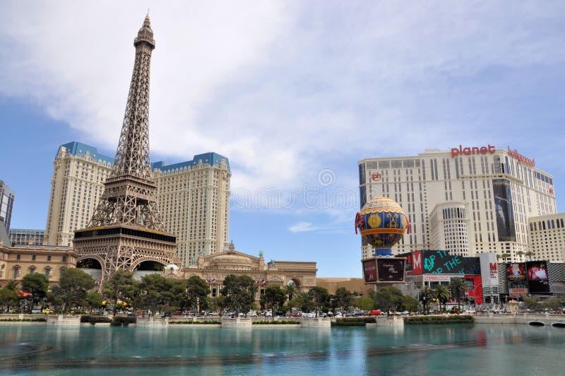 Las Vegas Paris e planeta Hollywood imagem de stock royalty free
