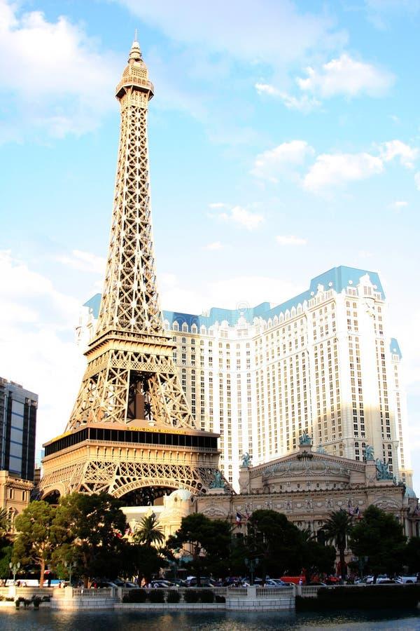 Las Vegas Paris Eiffel Tower royalty free stock photos