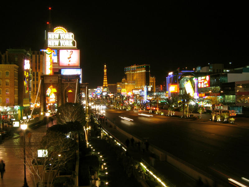 Las Vegas pasek, Las Vegas, Nevada, usa fotografia royalty free