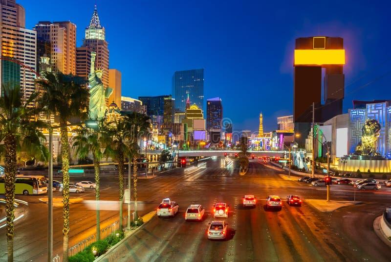 Las Vegas paska zmierzch zdjęcie stock