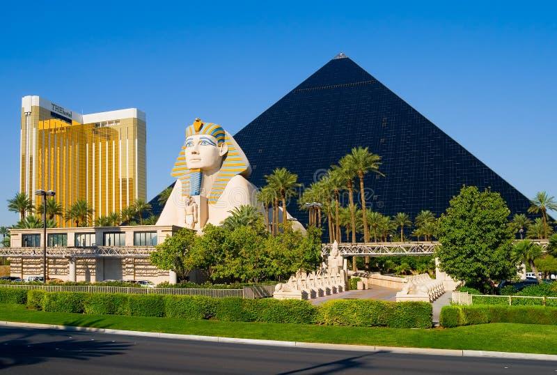 las Vegas piramidy w hotelu obraz royalty free