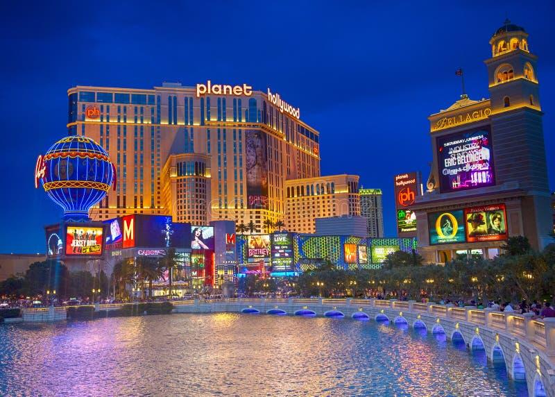 Las Vegas, planeta Hollywood imagen de archivo