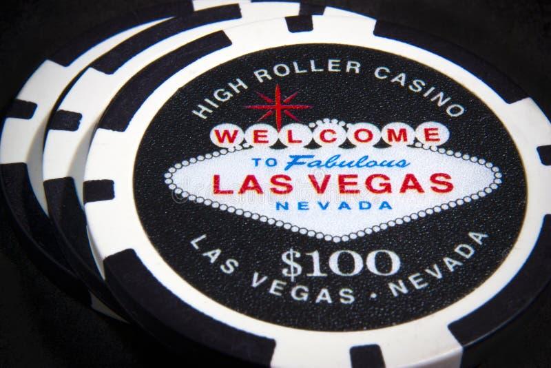 Las Vegas poker chips stock images