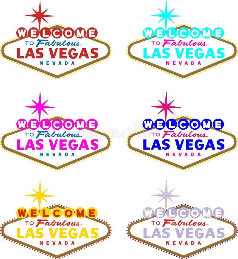 las Vegas powitanie ilustracja wektor
