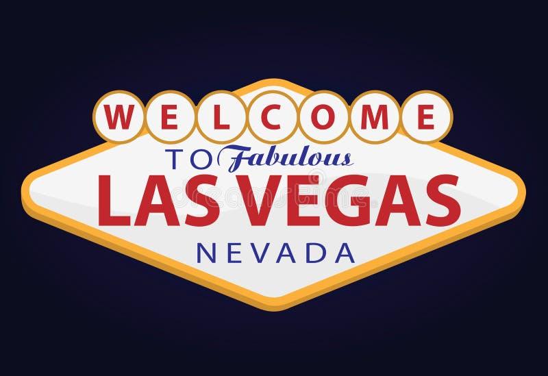 las Vegas powitanie royalty ilustracja