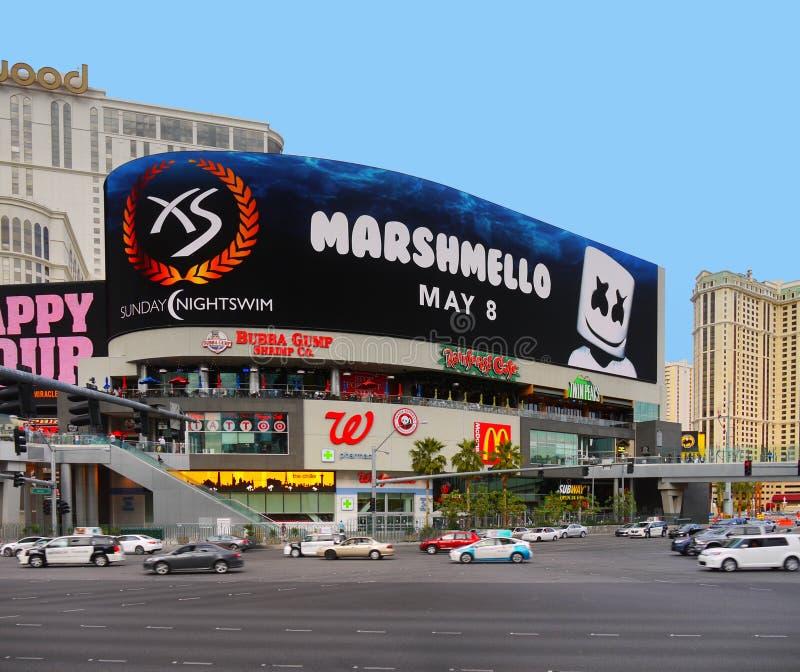 Las Vegas remsa, kasino för Hollywood hotellsemesterort royaltyfria bilder