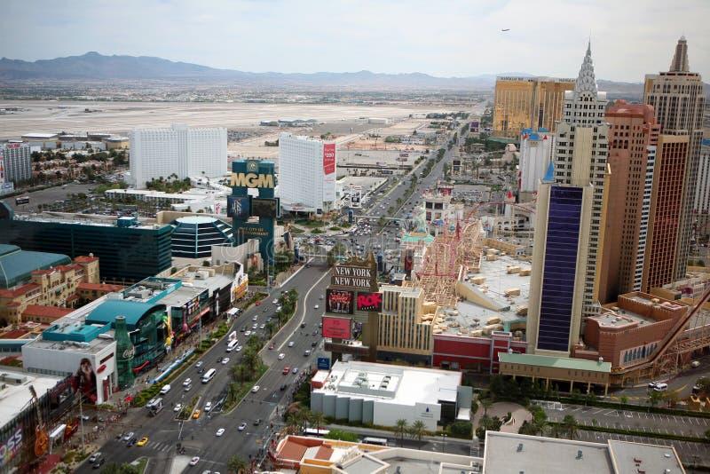 Las Vegas remsa på dagen royaltyfri bild