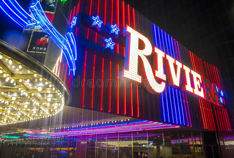 Las Vegas Riviera arkivbild