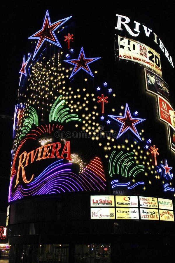 Las Vegas Riviera hotell royaltyfri bild