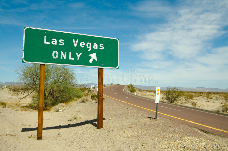 Download Las Vegas Only Road Sign stock image. Image of highway - 2762377