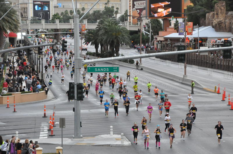 Las Vegas Rock 'n' Roll Marathon stock photos