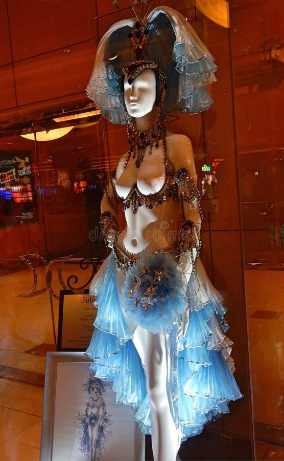 Las Vegas Showgirldräkt arkivfoto