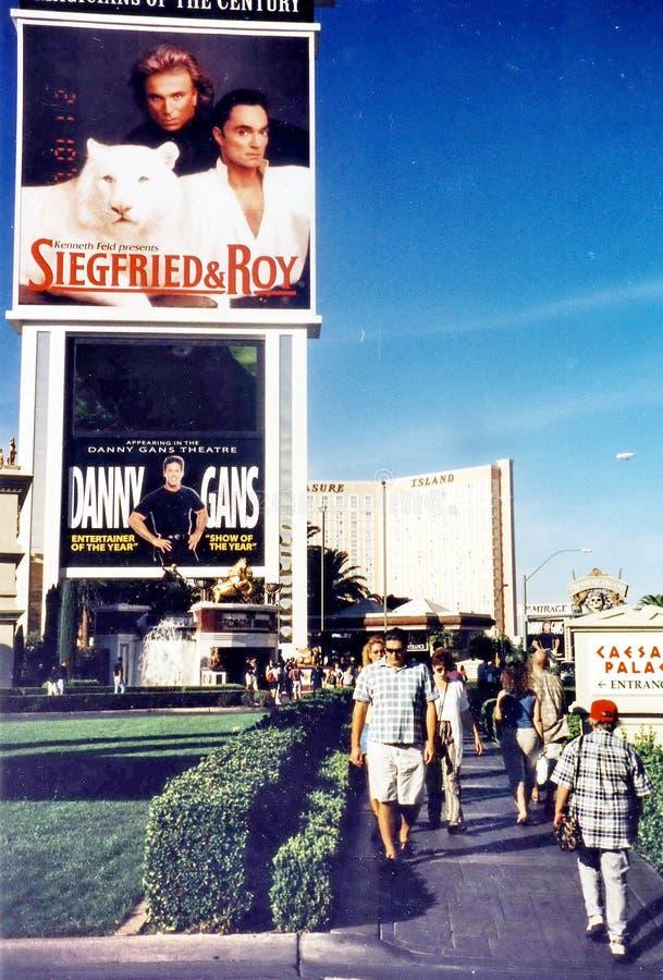 Las Vegas Siegfried e Roy sul boulevard 2000 immagini stock libere da diritti