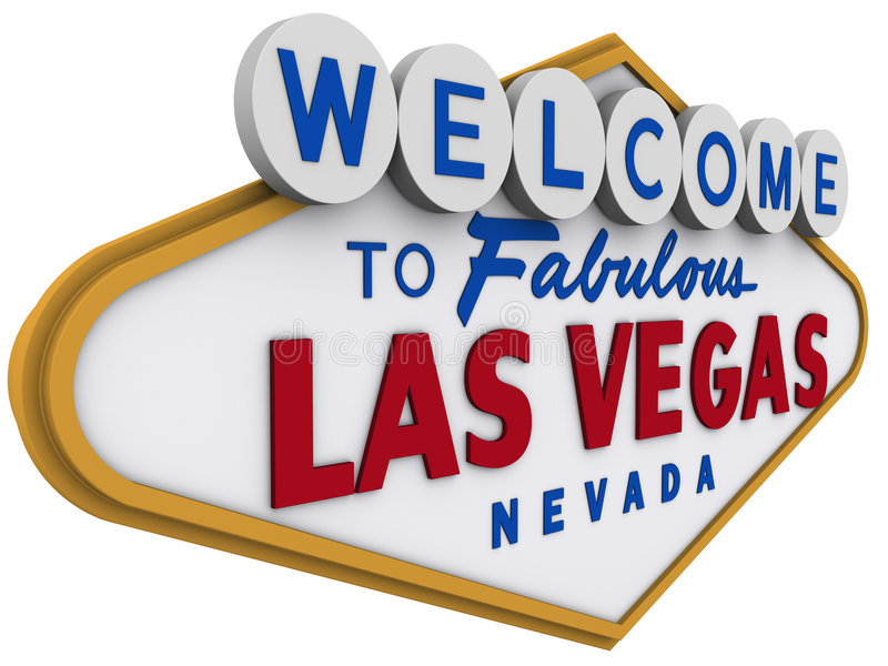 Las Vegas Sign 4 stock illustration