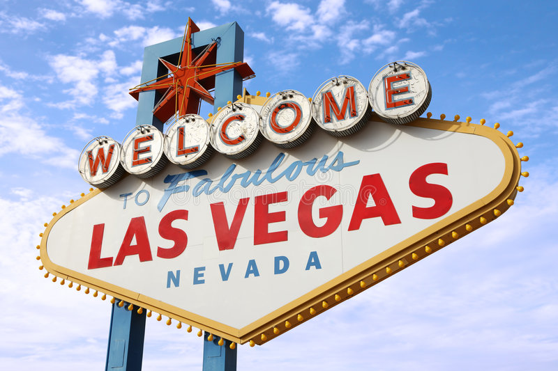 Download Las Vegas Sign stock image. Image of signboard, arrive - 7531501