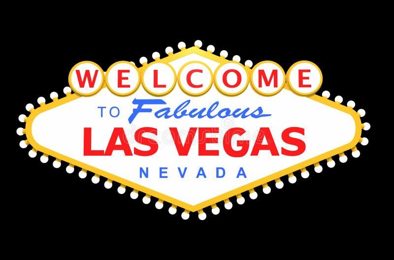 Las Vegas Sign Isolated vector illustration