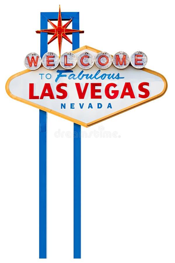Las vegas sign isolated on white stock image