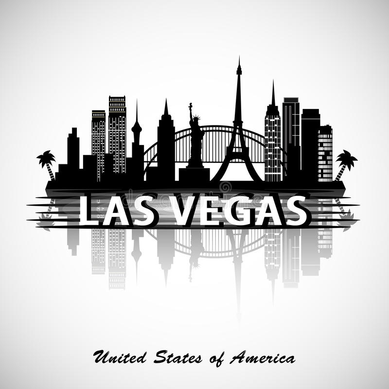 Las Vegas Skyline royalty free illustration