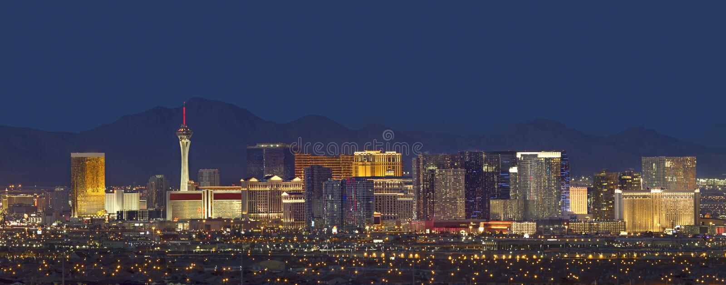 Las Vegas Skyline at Dusk stock photography