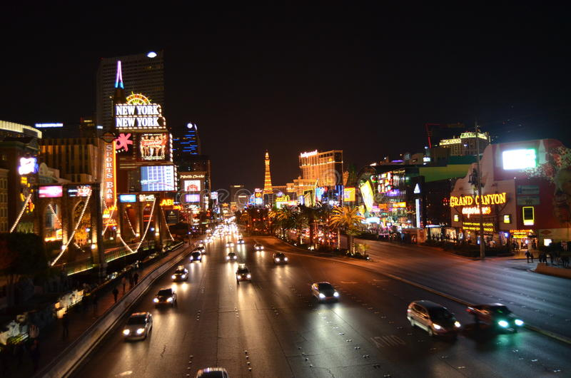 Download Las Vegas skyline by night editorial photo. Image of civilization - 29285381