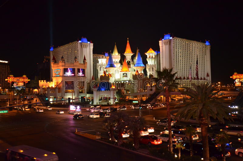 Download Las Vegas skyline by night editorial photography. Image of nevada - 29285397