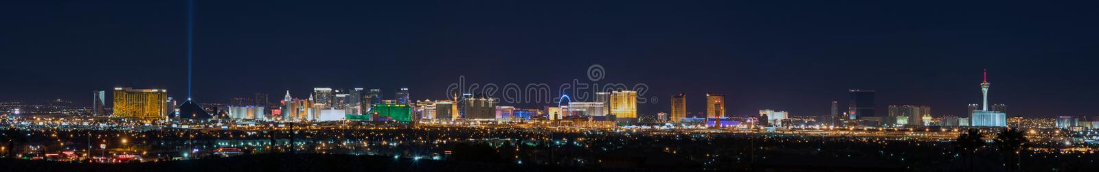 Las Vegas Skyline. Panoramic shot of Las Vegas from the beginning to the end of the strip