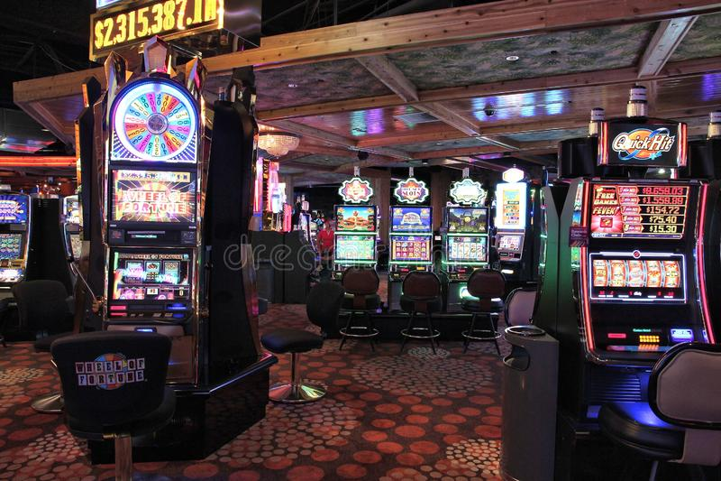 Las Vegas slots. LAS VEGAS, USA - APRIL 13, 2014: Slot games at Hooters casino. There are 104 casinos in Las Vegas stock photos