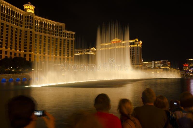 Las Vegas - springbrunnarna av Bellagio royaltyfria foton