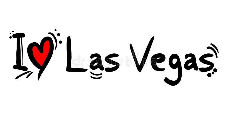 Las Vegas, stad van de liefdebericht van de V.S. vector illustratie