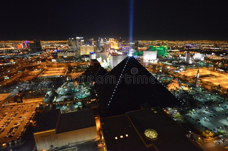 Las Vegas, Stadt, Stadtgebiet, Nacht, Stadtbild lizenzfreies stockbild