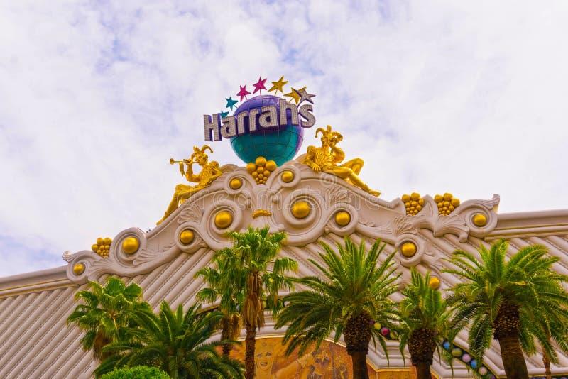 Las Vegas, Stany Zjednoczone Ameryka, Maj - 05, 2016: Powierzchowność Harrah ` s kasyno na pasku i hotel zdjęcie stock