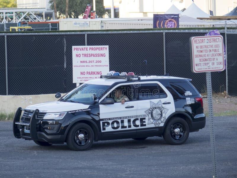 Las Vegas storstads- polisbil arkivfoton