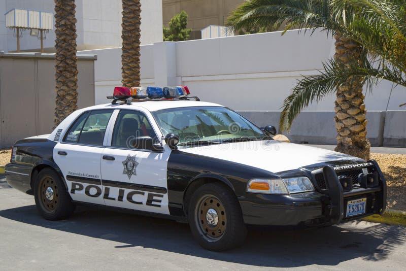 Las Vegas storstads- polisenbil royaltyfri bild